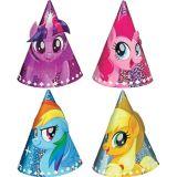 Mini chapeaux de fête prismatiques Mon petit poney, paq. 8 | Hasbronull