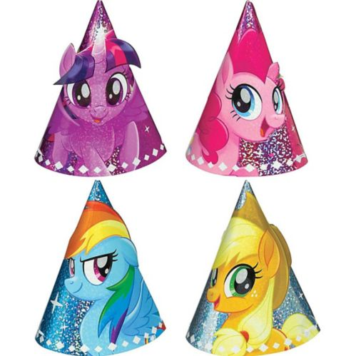 Mini chapeaux de fête prismatiques Mon petit poney, paq. 8