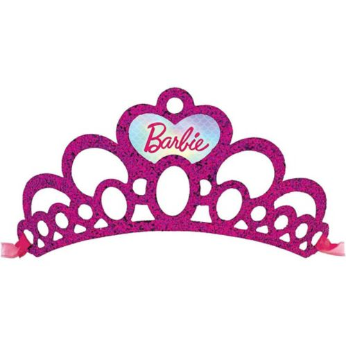 Glitter Barbie Mermaid Tiaras, 8-pk