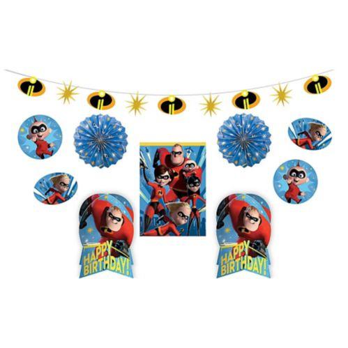 Incredibles 2 Birthday Room Decorating Kit, 10-pc