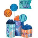 Birthday Baller Centerpiece Kit, 3-pc