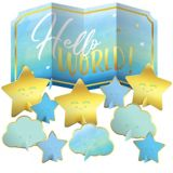 Blue Hello World Table Decorating Kit, 11-pcs