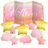 Pink Hello World Table Decorating Kit, 11-pcs