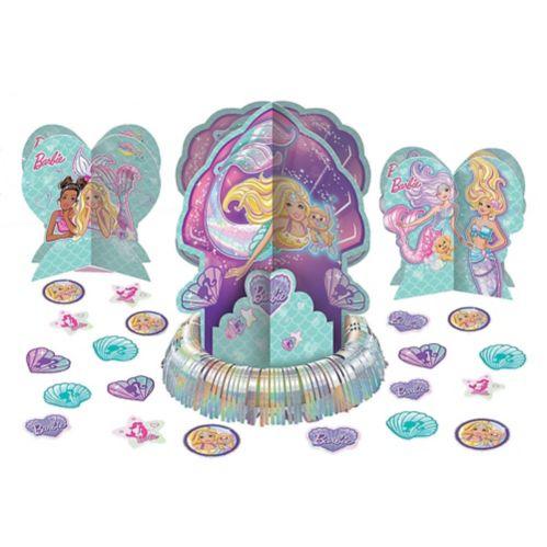 Décoration de table Barbie sirène, paq. 23