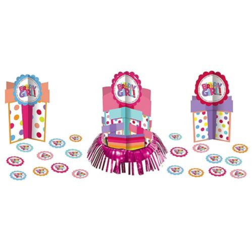Girl Birthday Centerpiece Kit, 23-pcs