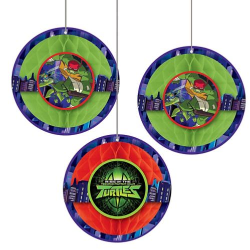 Rise of the Teenage Mutant Ninja Turtles Honeycomb Balls, 3-pcs