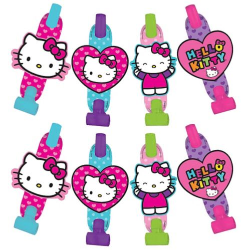 Mirlitons Hello Kitty arc-en-ciel, paq. 8