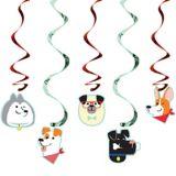 Dog Swirl Decorations, 5-pk
