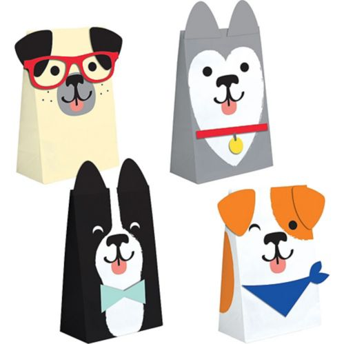 Dog Party Treat Bags, 8-pk