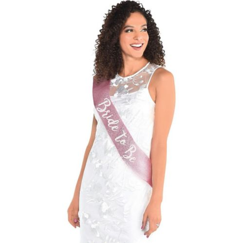 Glitter Pink Bride-To-Be Sash