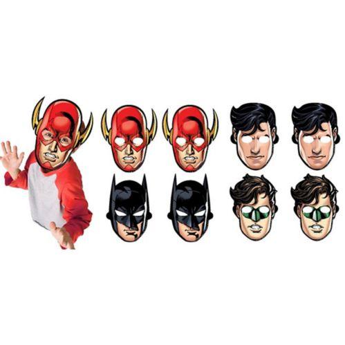 Justice League Masks, 8-pk