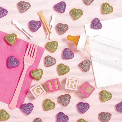 Glitter Heart Table Scatters, 40-pcs