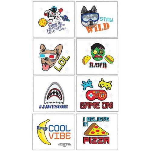 Epic Party Tattoos, 8-pk