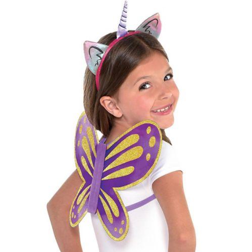 Rainbow Butterfly Unicorn Kitty Costume Accessory Kit