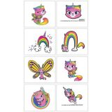 Rainbow Butterfly Unicorn Kitty Tattoos   Amscannull