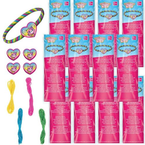 Rainbow Butterfly Unicorn Kitty Friendship Bracelet Kits, 12-pk