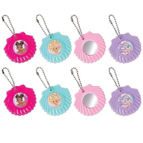 Barbie Mermaid Mirror Keychains, 8-pk