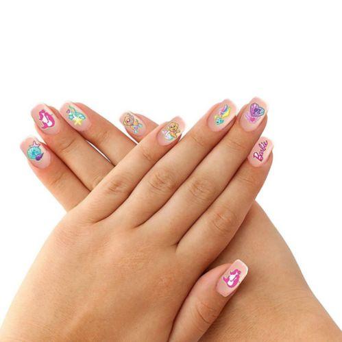 Tatouages pour les ongles Barbie sirène