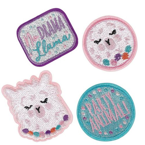 Llama Fun Patches, 4-pk