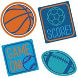 Birthday Baller Embroidered Patches, 4-pk | Amscannull