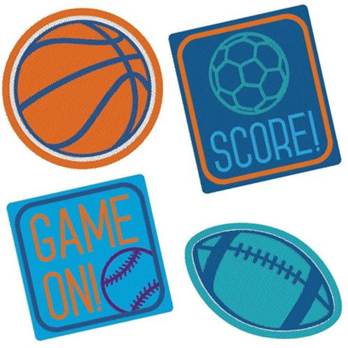 Birthday Baller Embroidered Patches, 4-pk