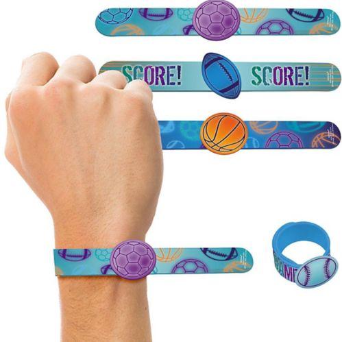 Birthday Baller Slap Bracelets 4-pk