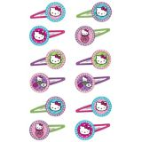 Rainbow Hello Kitty Hair Clips, 12-pk | Amscannull