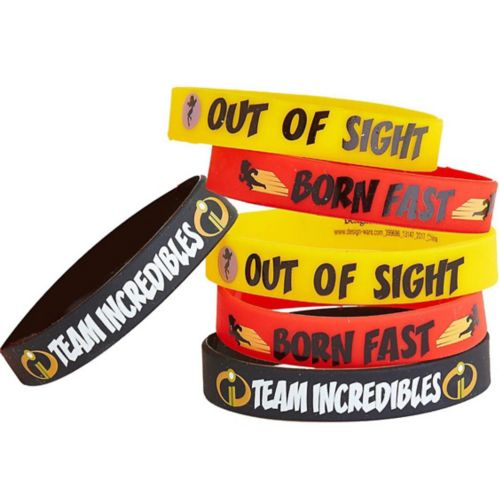 Incredibles 2 Wristbands 6ct