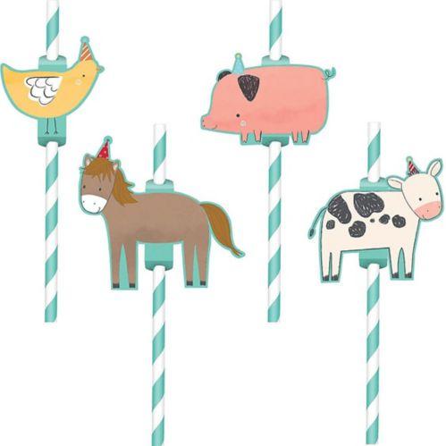 Friendly Farm Paper Straws, 12-pk