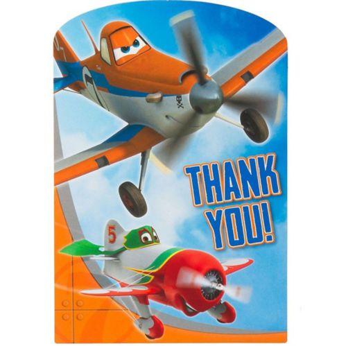 Cartes de remerciement Les Avions, paq. 8