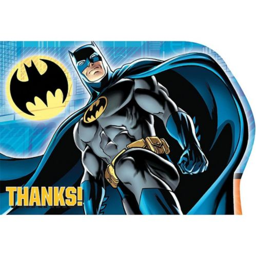 Batman Thank You Notes, 8-pk