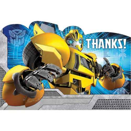 Transformers Thank You Notes 8-pk