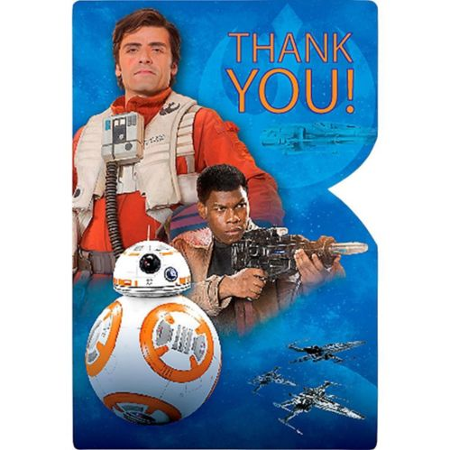 Star Wars VII The Force Awakens Thank You Notes, 8-pk