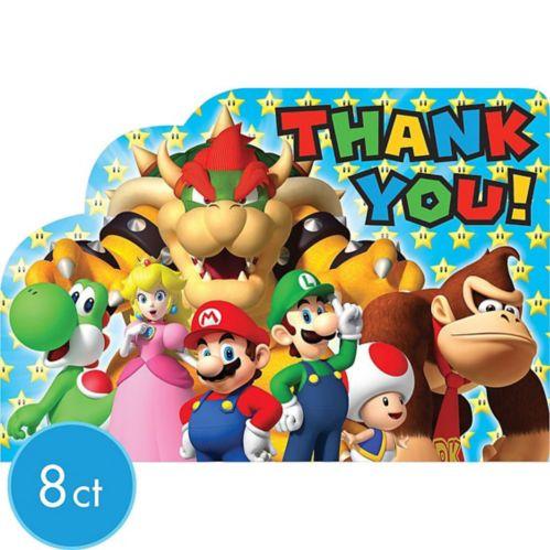 Super Mario Thank You Notes, 8-pk