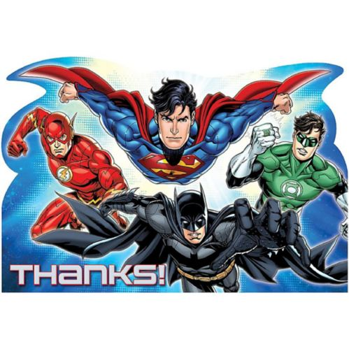 Justice League Thank You Notes, 8-pk