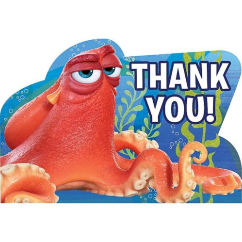 Finding Dory Thank You Notes, 8-pk