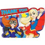DC Super Hero Girls Thank You Notes, 8-pk | Amscannull