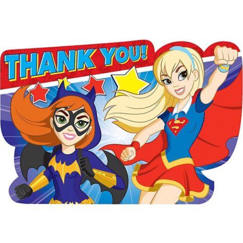 DC Super Hero Girls Thank You Notes, 8-pk