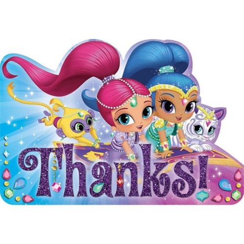 Shimmer and Shine Thank You Notes, 8-pk