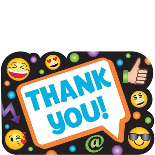 Smiley Thank You Notes 8-pk