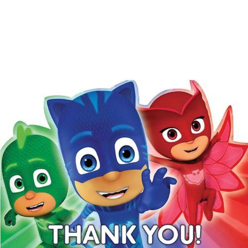 Cartes de remerciement Pyjamasques, paq. 8