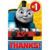 Cartes de remerciement Thomas le petit train, paq. 8