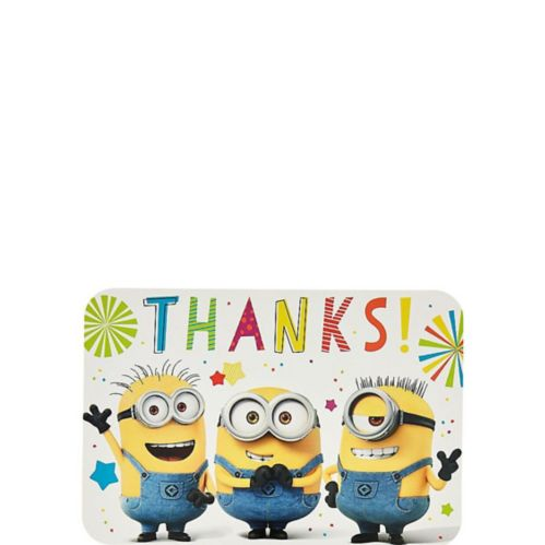Minions Thank You Notes, 8-pk