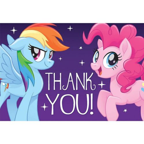 Purple My Little Pony Thank You Notes, 8-pk