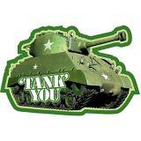 Cartes de remerciement Camouflage, paq. 8 | Amscannull