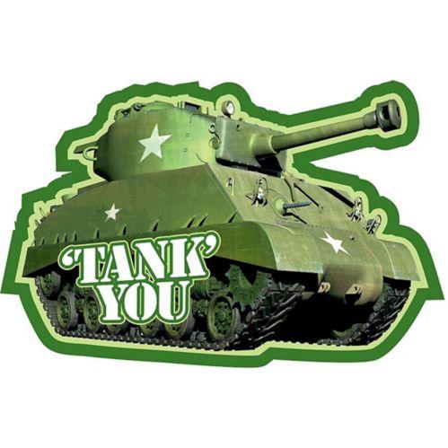 Cartes de remerciement Camouflage, paq. 8