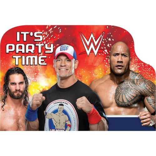 WWE Invitations, 8-pk