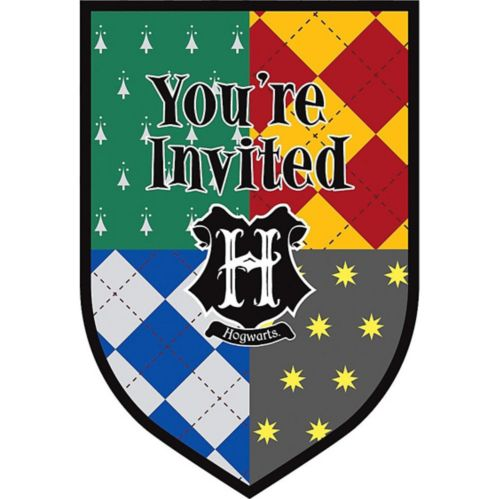 Harry Potter Invitations, 8-pk