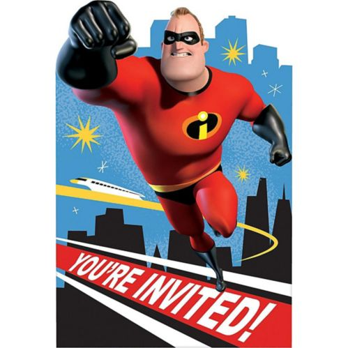 Incredibles 2 Invitations, 8-pk