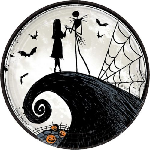 The Nightmare Before Christmas Lunch Plates, 8-pk